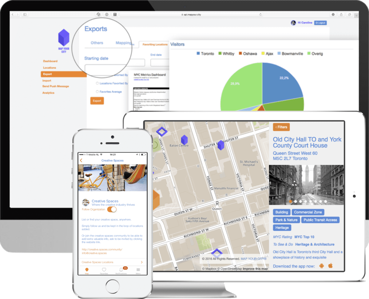 Map Your City Dashboard